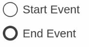 Start event, End event