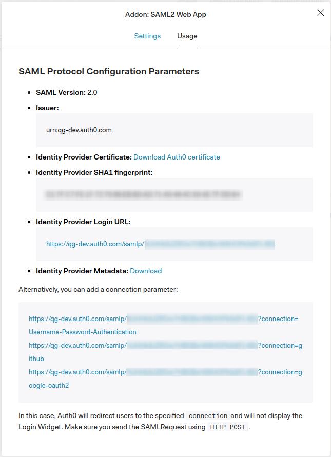 SAML2 - Identity Provider Metadata