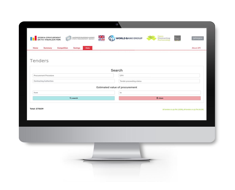Georgian OCDS API