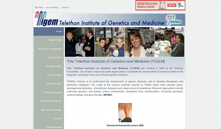 TIGEM: Telethon Institute of Genetics and Medicine